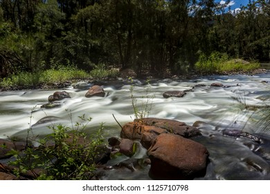 River rapids upstream Shoalhaven river Australia