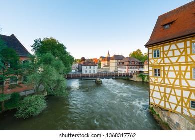 River Regnitz in Bamberg