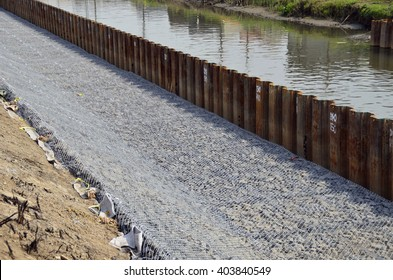 river revetment construction site