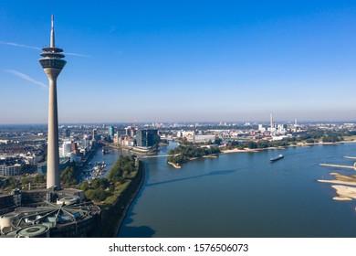 River Rhein in Dusseldorf - Germany