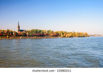 River Rhine in Bonn, Germany
