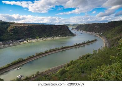 The river Rhine near Lorelei