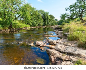 The River Ribble near the village of Stainforth on a late summer afternoon.