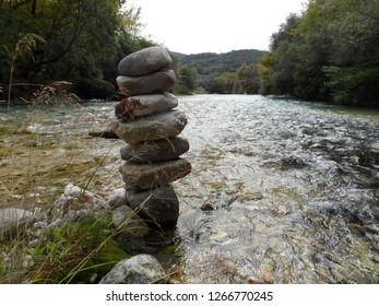 river rocks in the styx in greece