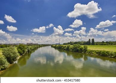 River Sava and Zagreb skyline