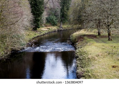River scene in Inveraray Argyll Scotland in springtime