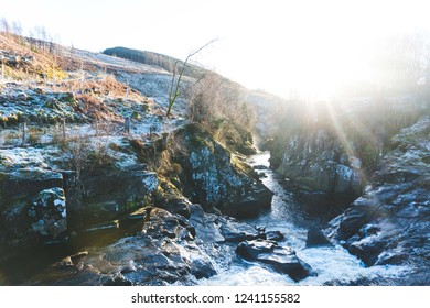 River in Scotland on a wintery afternoon