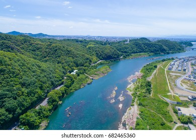 River seen from the sky