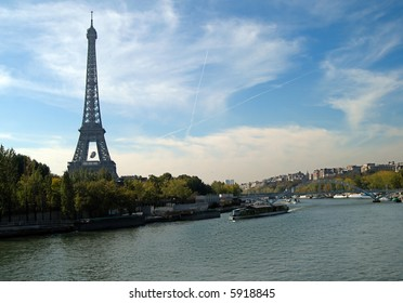 River Seine and Eiffel Tower, Paris, France