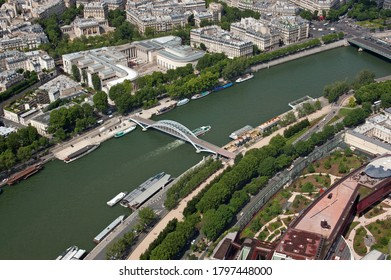 The River Seine, Paris, France, captured from the Eiffel Tower