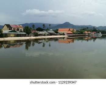 River side in Kampot town, Cambodia