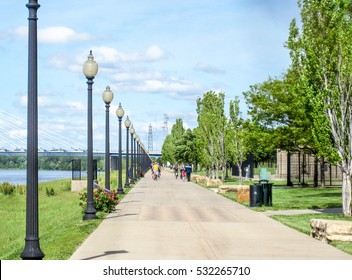 A river side park in Kansas City along the Missouri River