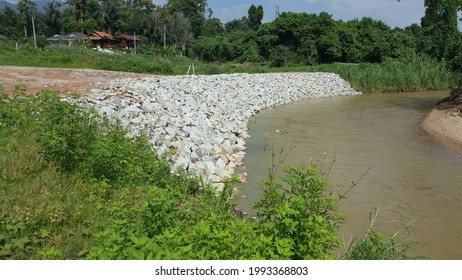 River Slope Protection Using Rock Armour or Riprap