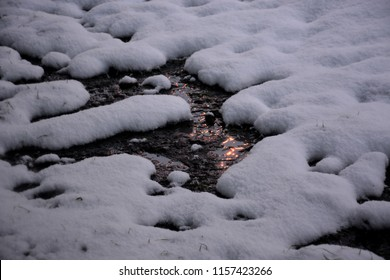river and snowy