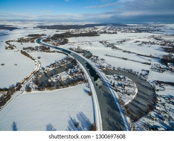 River of snowy landscape