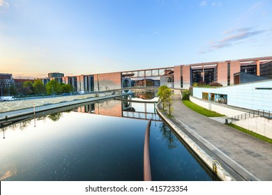 River Spree and office building of the German Parliament - Berlin, Germany