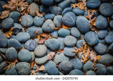 River Stones in a Japanese Garden