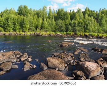 river in summer. Russia