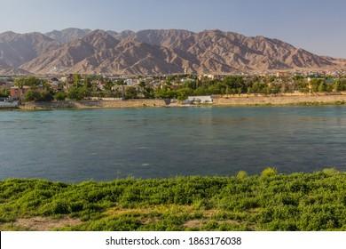 River Syr Darya in Khujand, Tajikistan - Shutterstock ID 1863176038