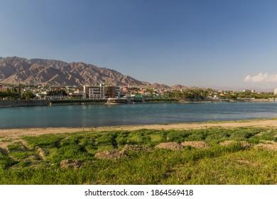 River Syr Darya in Khujand, Tajikistan - Shutterstock ID 1864569418