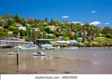 River Tamar Launceston Tasmania Australia as seen from from Kings Park