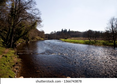 River Teith at Doune Castle Stirlingshire Scotland