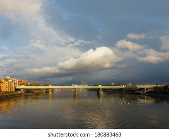 The river Thames in London seen from Putney bridge, UK
