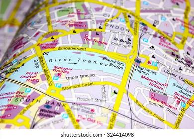 Map Of London Centre.Fotos Imagenes Y Otros Productos Fotograficos De Stock Sobre Map Of