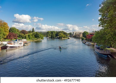 The River Thames at Reading in Berkshire, UK
