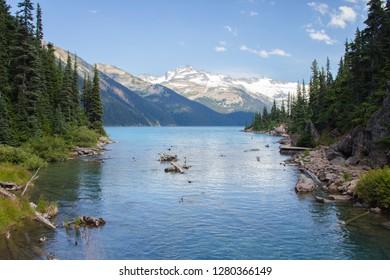 The river that flows into Garibaldi lake in British Columbia, Canada.