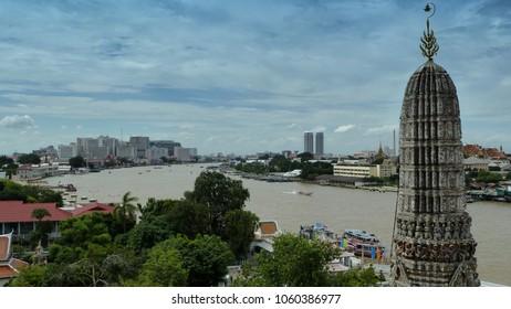 River through bangkok city