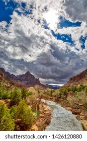 The River Through Zion and The Watchman, Zion National Park Utah