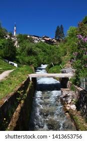 The river in Travnik, Bosnia and Herzegovina