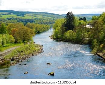 The River Tummel in Perthshire, Scotland.