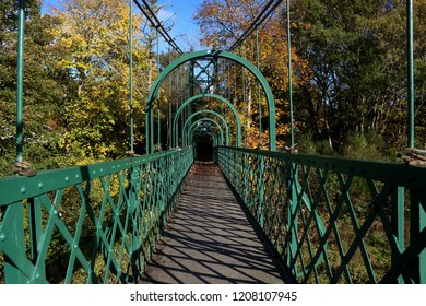 River Tummel suspension footbridge at Pitlochry Scotland
