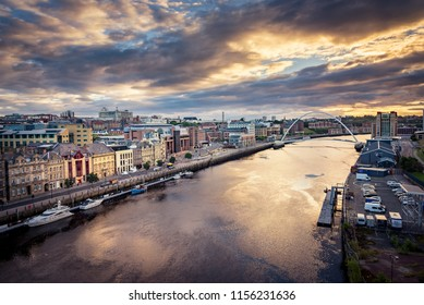 The River Tyne flowing through Newcastle upon Tyne