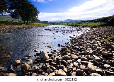 The River Ure near Hawes, Yorkshire Dales National Park, United Kingdom on a summer's day