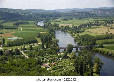 river valley, Dordogne, France