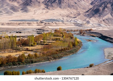 River in valley at Ladakh Region, India
