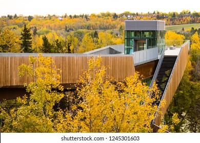 River valley lookout in Edmonton, Alberta, Canada