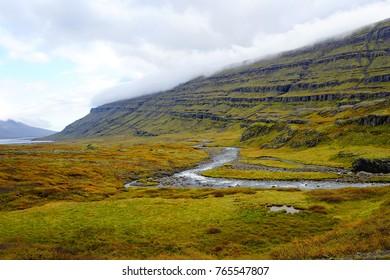 River valley near Egilsstadir