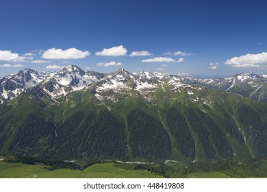 river valley surrounded by high peaks