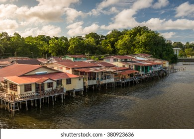 The river village of Kampong Ayer in Bandar Seri Begawan, Brunei.