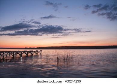 River Volga, sunset, landscape