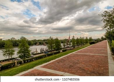 River walk along the Savannah River