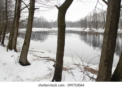 River in a winter landscape