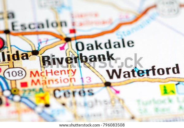 Map Of California Usa.Riverbank California Usa On Map Stock Photo Edit Now 796083508