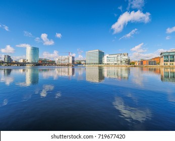 Riverbank of River Lagan,Belfast city,Northern Ireland,United Kindom