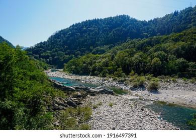 Riverbed of the Maggia river, Ticino, Switzerland