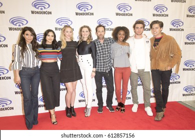 Riverdale cast  attends Riverdale press room at Wondercon in Anaheim Convention Center on March 31 2017.